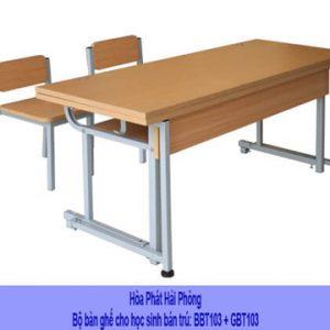 Bộ bàn ghế học sinh bán trú BBT103 + GBT103 tại Hải Phòng