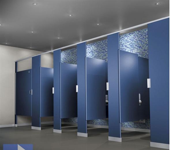 Nhà vệ sinh sử dụng vách copact đảm bảo chống nước tuyệt đối