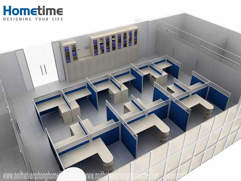 Phối cảnh 3D nội thất văn phòng công ty Logistics