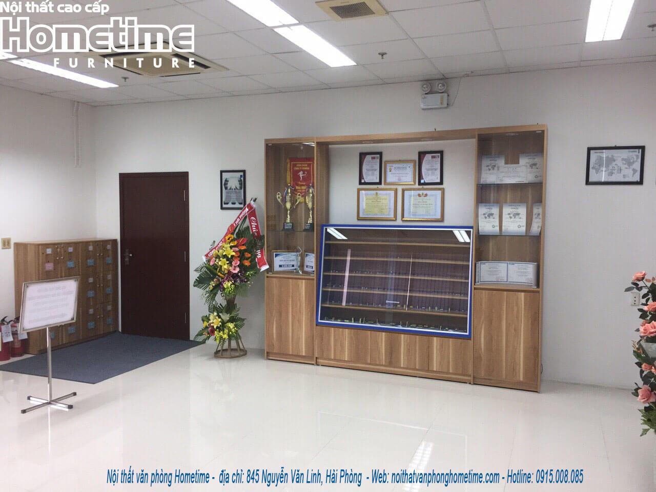thi công nội thất văn phòng sumida Hải Phòng quầy lễ tân