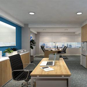 Thiết kế cụm bàn làm việc nhân viên