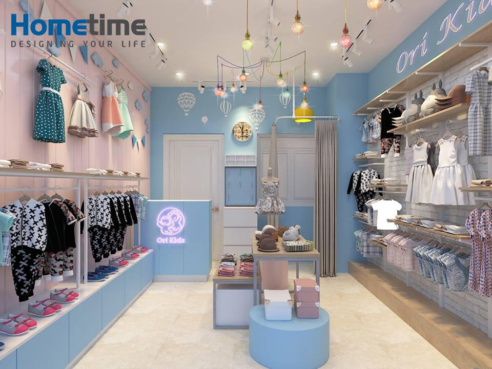 Địa chỉ thiết kế shop quần áo trẻ em tại Hải Phòng Hometime