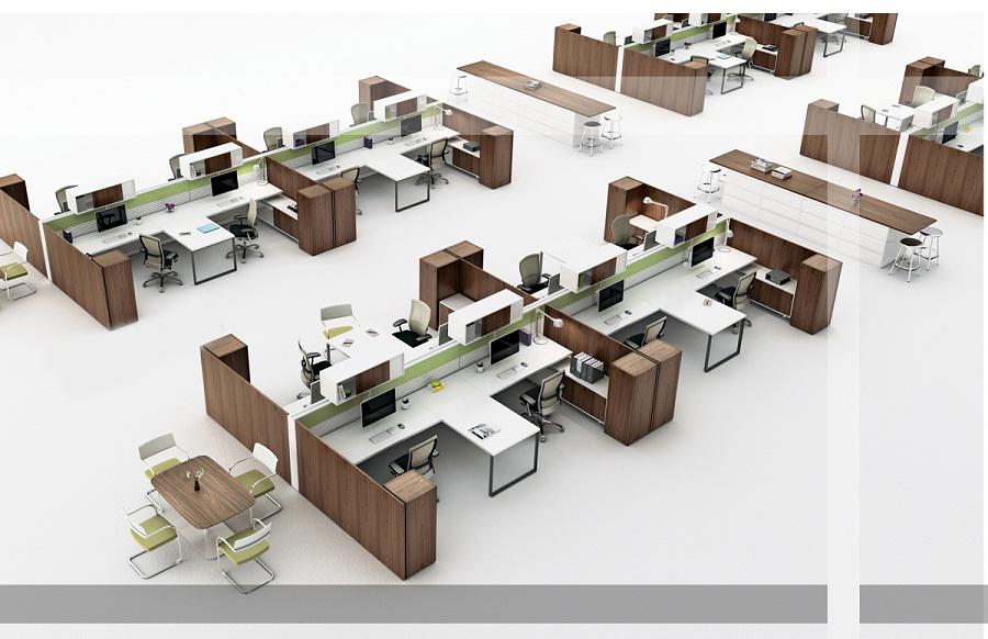 thiết kế nội thất văn phòng cụm bàn làm việc hải phòng