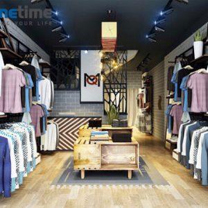 Thiết kế thi công shop quần áo Nam sang trọng giá rẻ tại Hải Phòng