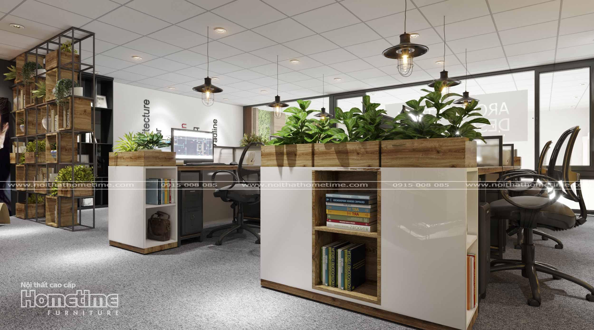 Không gian xanh trong cách lựa chọn bàn làm việc