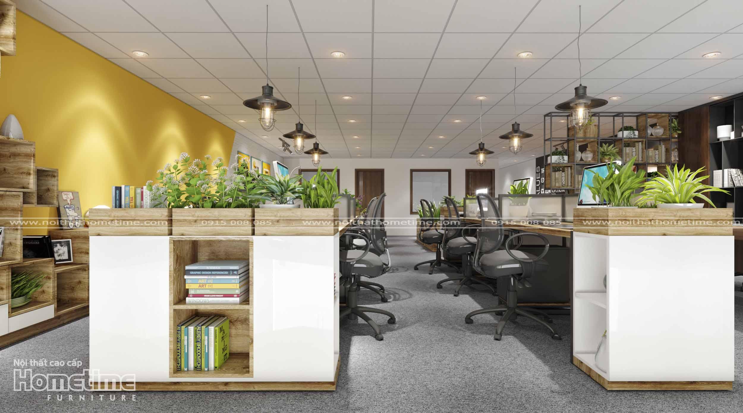 Màu sắc bàn làm việc văn phòng phù hợp