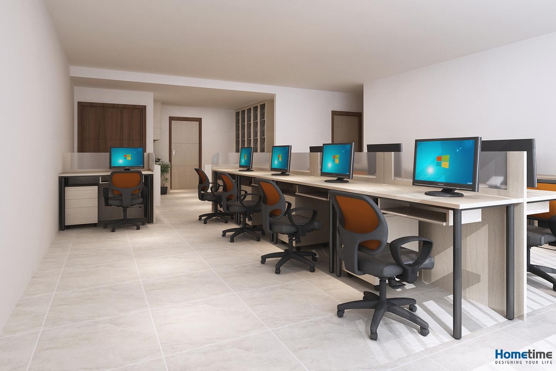 Gam màu trắng trong thiết kế giúp văn phòng có chiều sâu