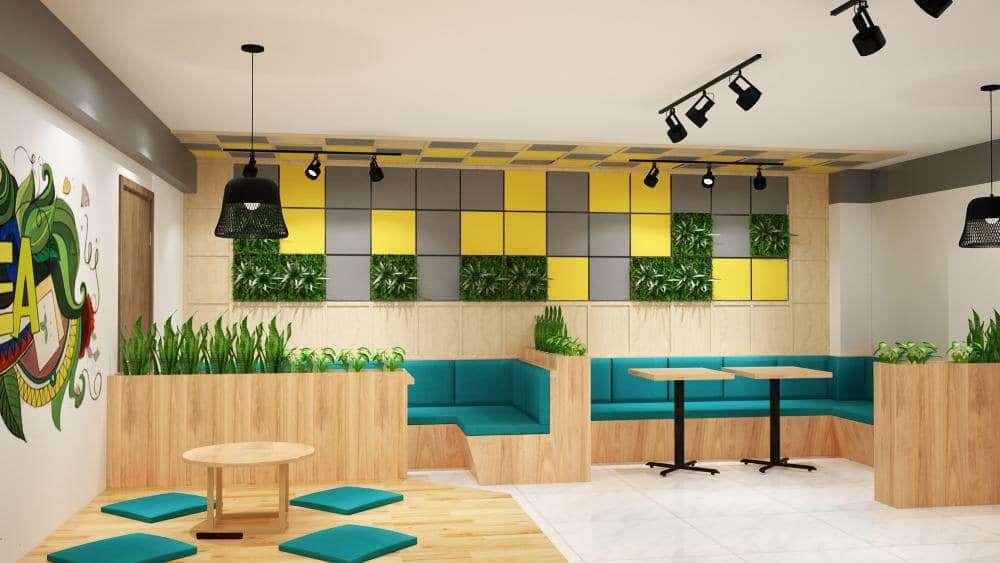Không gian xanh đẹp lạ trong quán café